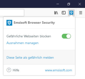Emsisoft Browser Security für Firefox