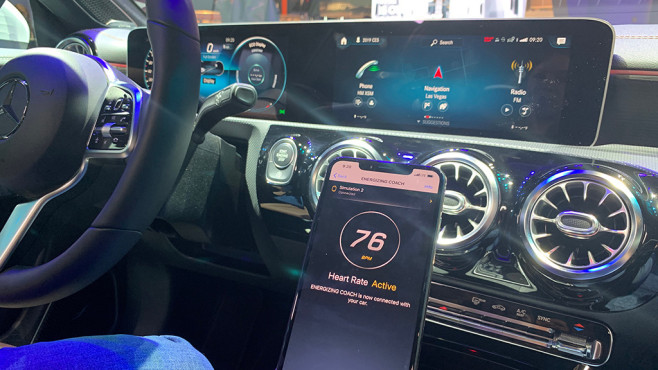 Mercedes CLA: Die MBUX empfängt Daten von Garmin.©COMPUTER BILD