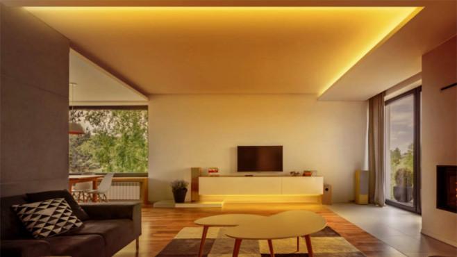 Eve Light Strip in einem Wohnzimmer©Elgato Eve