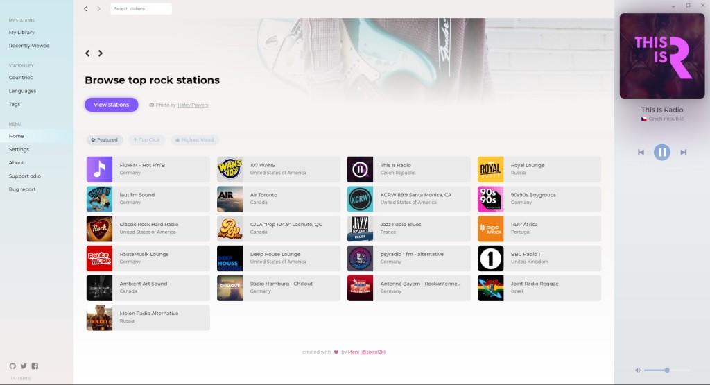 Screenshot 1 - odio Radio Streaming