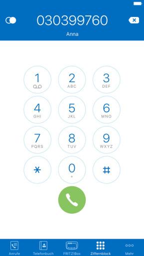FritzApp Fon (App für iPhone & iPad)