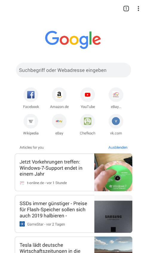 Screenshot 1 - Google Chrome (App für iPhone & iPad)