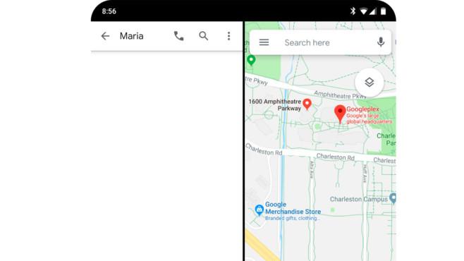 Android Q ermöglicht Display-Teilung©Google