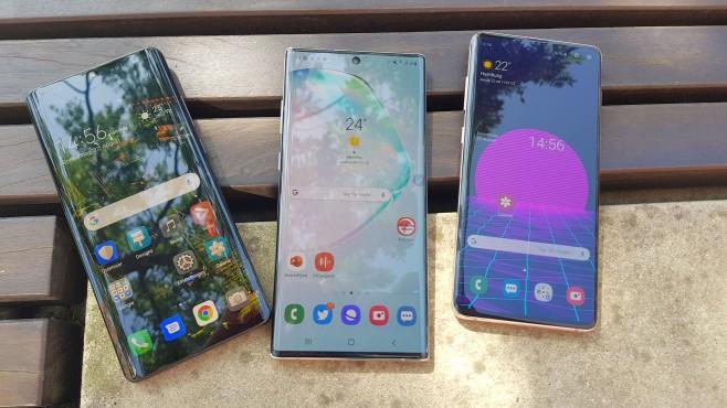 Huawei P30 Pro, Samsung Galaxy Note 10 Plus, S10 Plus©COMPUTER BILD / Michael Huch