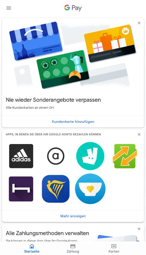 Screenshot 1 - Google Pay (Android-App)