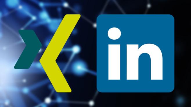 Xinf oder LinkedIn©Xing, Linkedin, ©istock/loops7