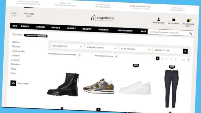 Rabattaktion bei Engelhorn©Screenshot www.engelhorn.de