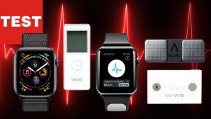EKG Test Apple Watch & Co.©iStockphoto.com/raspirator, Apple, AliveCor, Beurer, Sanatmetal