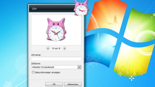 Windows 7: Uhr-Gadget im Monster-Design freischalten©COMPUTER BILD