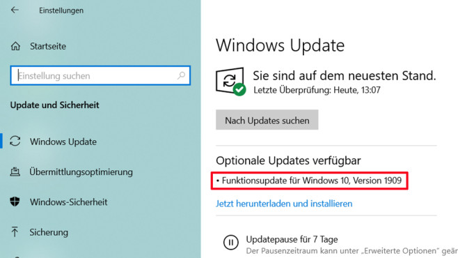 Optionales Update © COMPUTER BILD