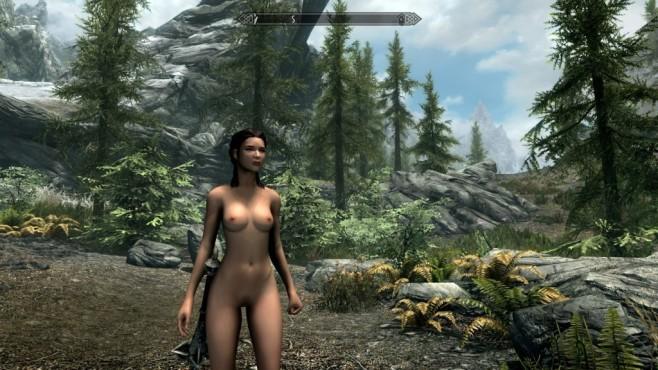 """Auch bei """"Skyrim"""" darf die obligatorische Nacktmod nicht fehlen.©Bethesda / Caliente"""