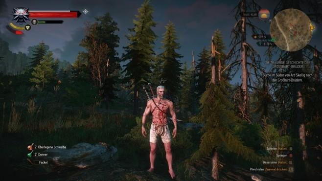 """The Witcher 3: Die besten Fan-Mods Wer es lieber brutal mag, der sollte sich die """"More Blood""""-Mod herunterladen.©CD Projekt Red / KNG"""
