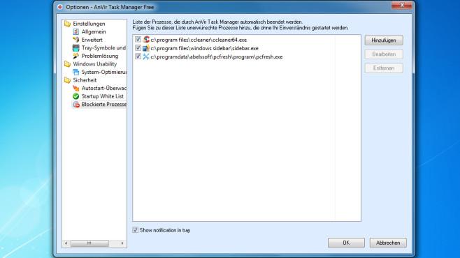 AnVir Task Manager Free: Blockierte Prozesse©COMPUTER BILD