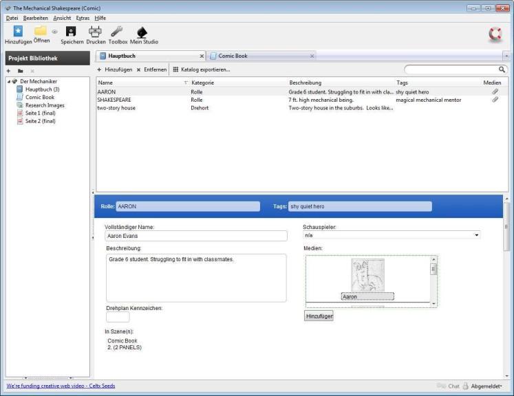 Screenshot 1 - Celtx