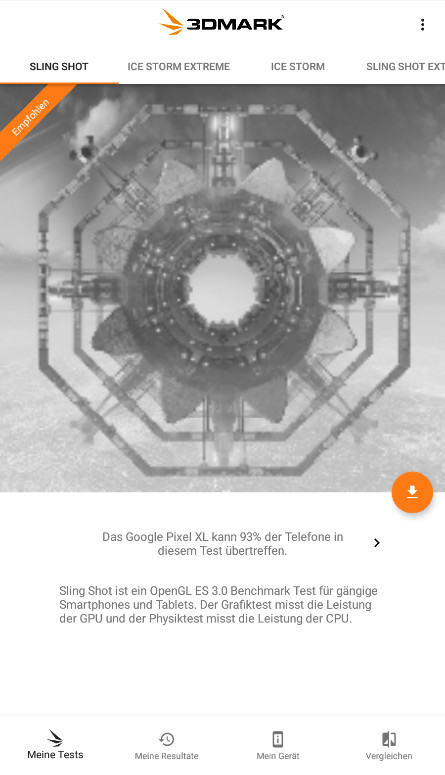 Screenshot 1 - 3DMark: Android-Benchmark für Gamer (Android-App)