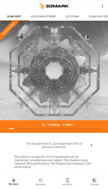 Screenshot 1 - 3DMark: iOS-Benchmark für Gamer (App für iPhone & iPad)