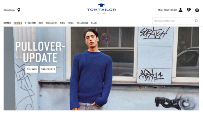 d42cf0e24bb32b Tom Tailor  Rabatt Cashback-Aktion © PR Screenshot www.tom-tailor