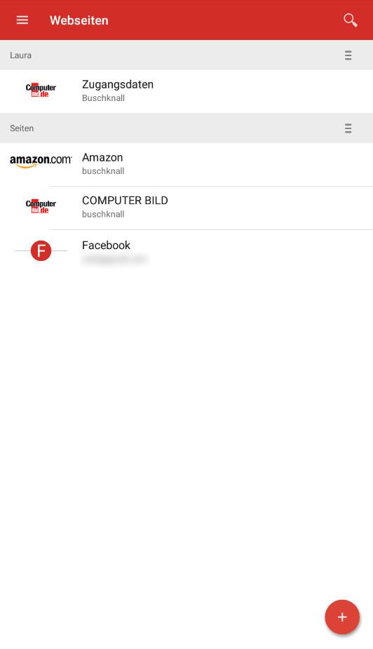 Screenshot 1 - LastPass Passwort-Manager (Android-App)