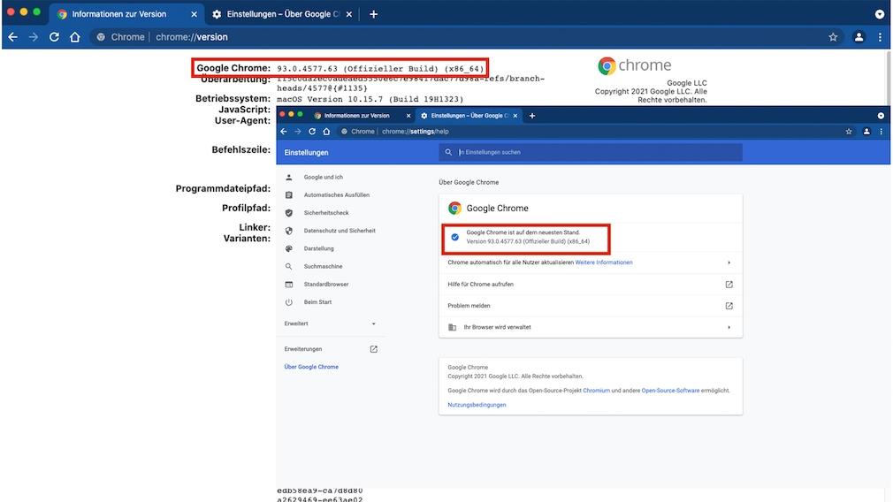 Google Chrome: Versionshinweise