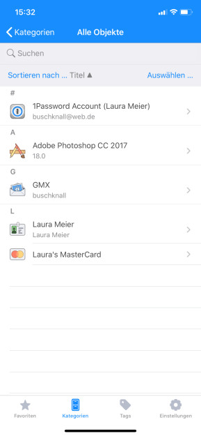 1Password (App für iPhone & iPad)