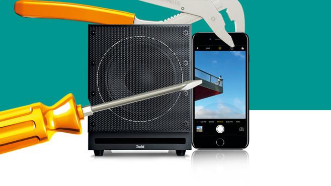 Reparatur, iPhone, Teufel Subwoofer©Apple, Teufel