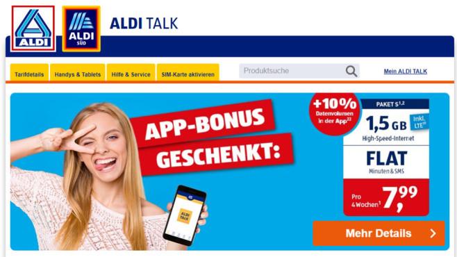 Aldi Karte Welt.Aldi Talk App Kunden Erhalten Datenvolumen Geschenkt