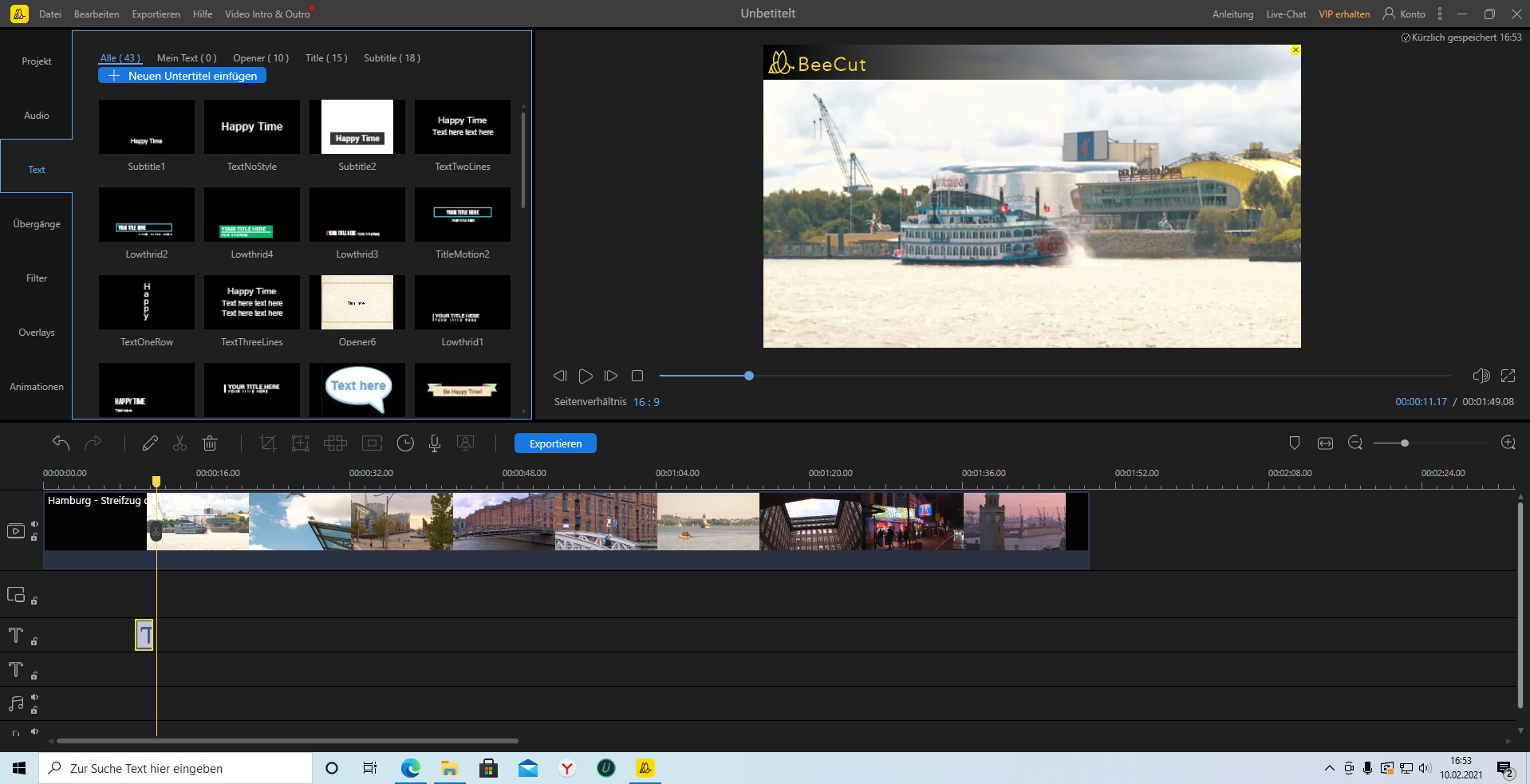 Screenshot 1 - BeeCut Video Editor