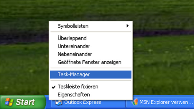 Task-Manager in der Taskleiste: Aufruf per Kontextmenü©COMPUTER BILD