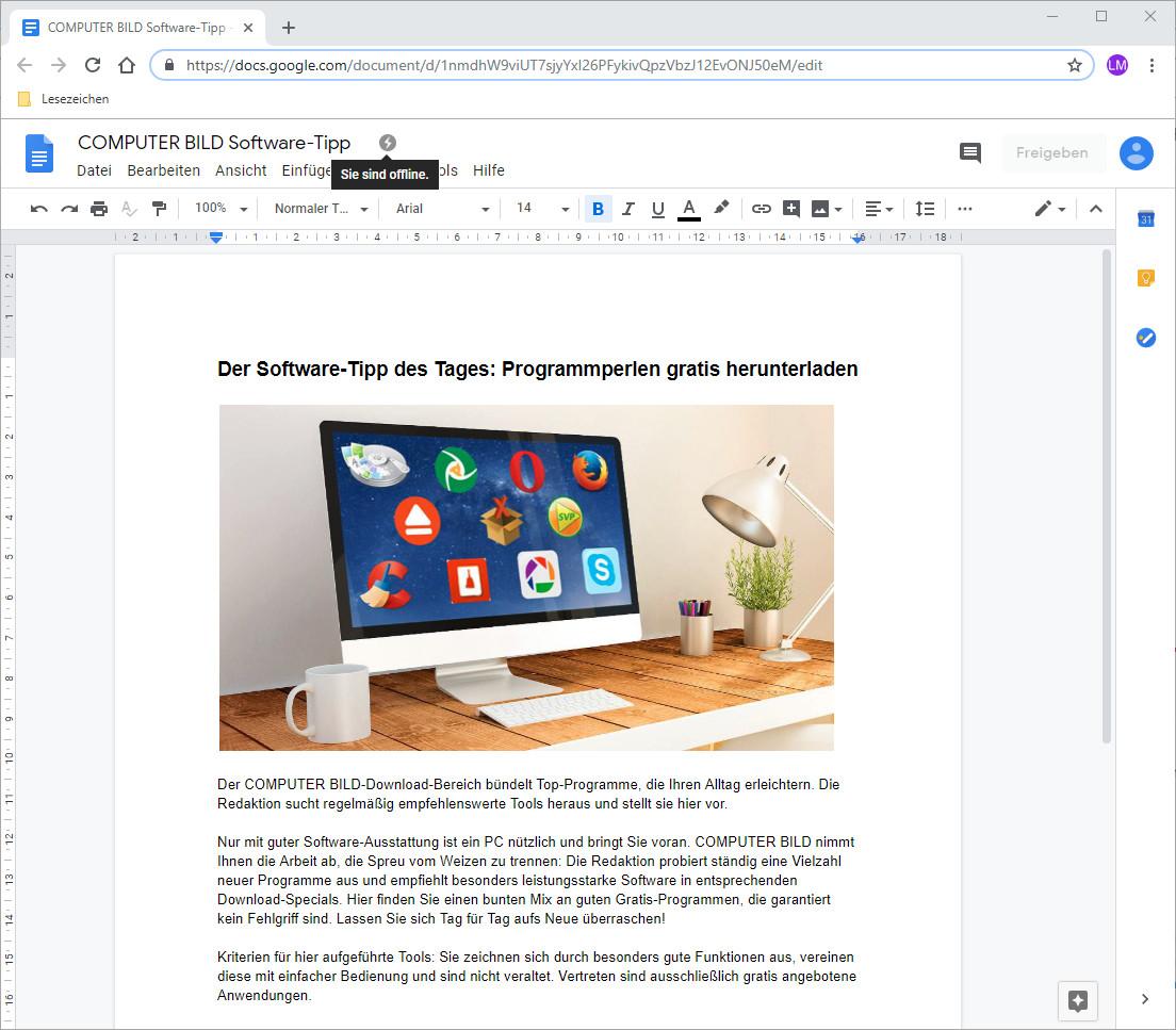 Screenshot 1 - Google Docs Offline für Chrome