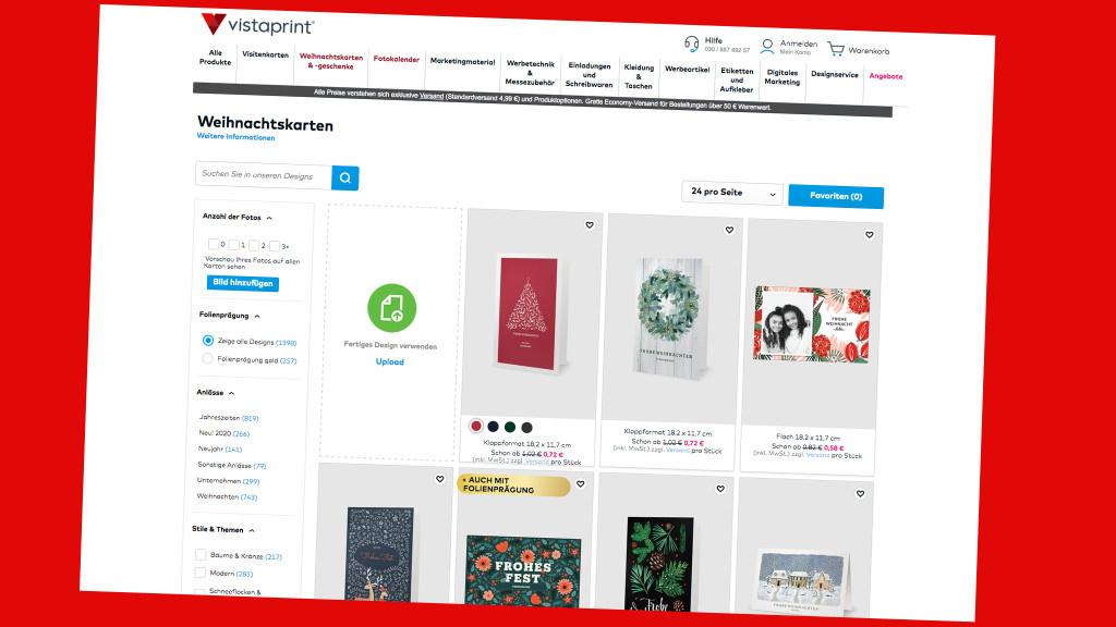 Weihnachtskarten 25 Prozent Rabatt Bei Vistaprint