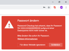 Password Checkup für Chrome