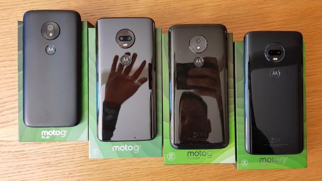 Motorola Moto G7 Play, Moto G7, Moto G7 Power, Moto G7 Plus©COMPUTER BILD/MIchael Huch
