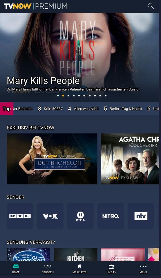 Screenshot 1 - TV Now Premium (App für iPhone & iPad)