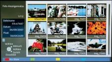 Der Panasonic zeigt Fotos von Speicherkarten als Übersicht und Diashow.