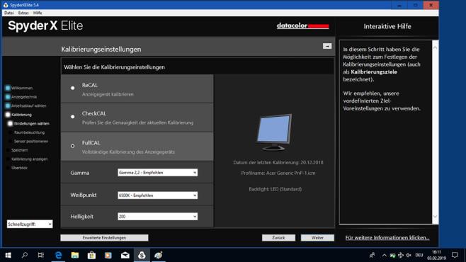 Datacolor SpyderX: Bessere Fotos mit kalibriertem Monitor Die Datacolor SpyderX Software führt selbsterklärend durch die Monitor-Kalibrierung, Vorkenntnisse sind nicht erforderlich.©COMPUTER BILD