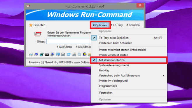 Windows Run-Command in Autostart integrieren © COMPUTER BILD
