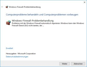 Windows Firewall Fix