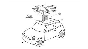 Microsoft-Patentantrag: En-route-Paket-Drohne©Microsoft