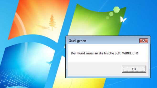 Windows 7: Benachrichtigungen per Aufgabenplanung einrichten©COMPUTER BILD