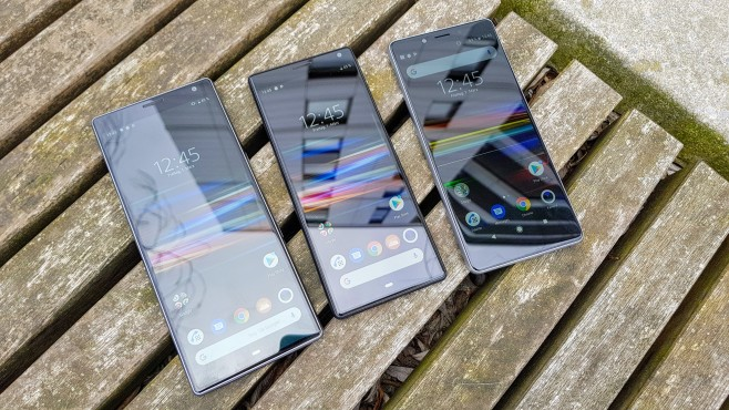 Sony Xperia 10 Plus, Sony Xperia 10, Sony Xperia L3©COMPUTER BILD/Michael Huch