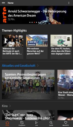 Arte Live TV & Mediathek (App für iPhone & iPad)