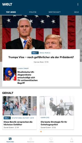 Welt-News: Nachrichten live (Android-App)