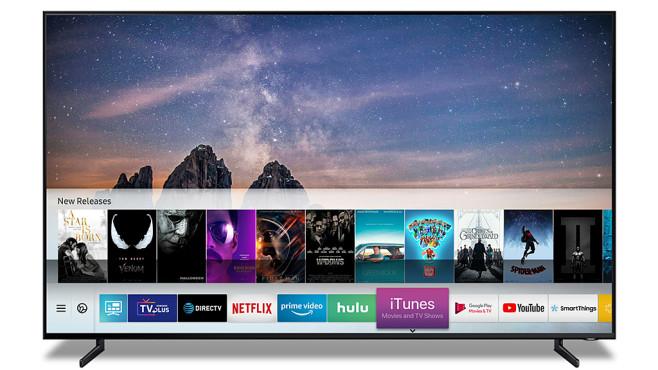 Samsung-Fernseher mit iTunes-App©Samsung