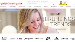 Onlineshop von Gebrüder Götz lädt zum Sparen ein©PR/Screenshot www.gebrueder-goetz.de
