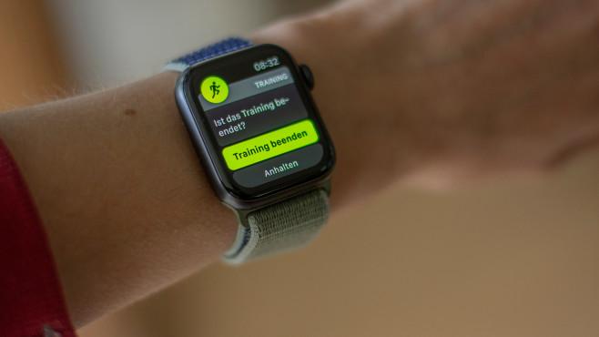 Apple Watch 5 Trainingsende©COMPUTER BILD