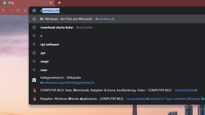 Google Chrome: Mehr als sieben Adressleisten-Vorschläge©COMPUTER BILD