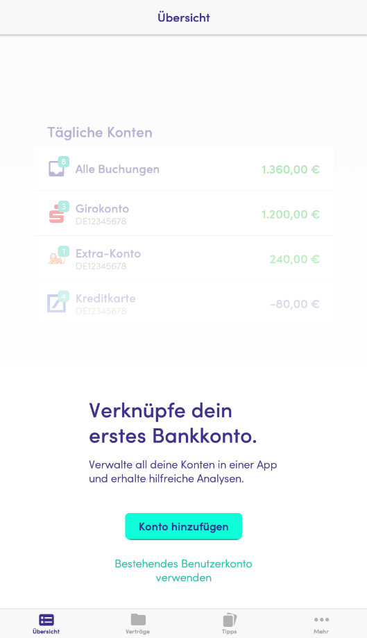 Screenshot 1 - Finanzguru (Android-App)