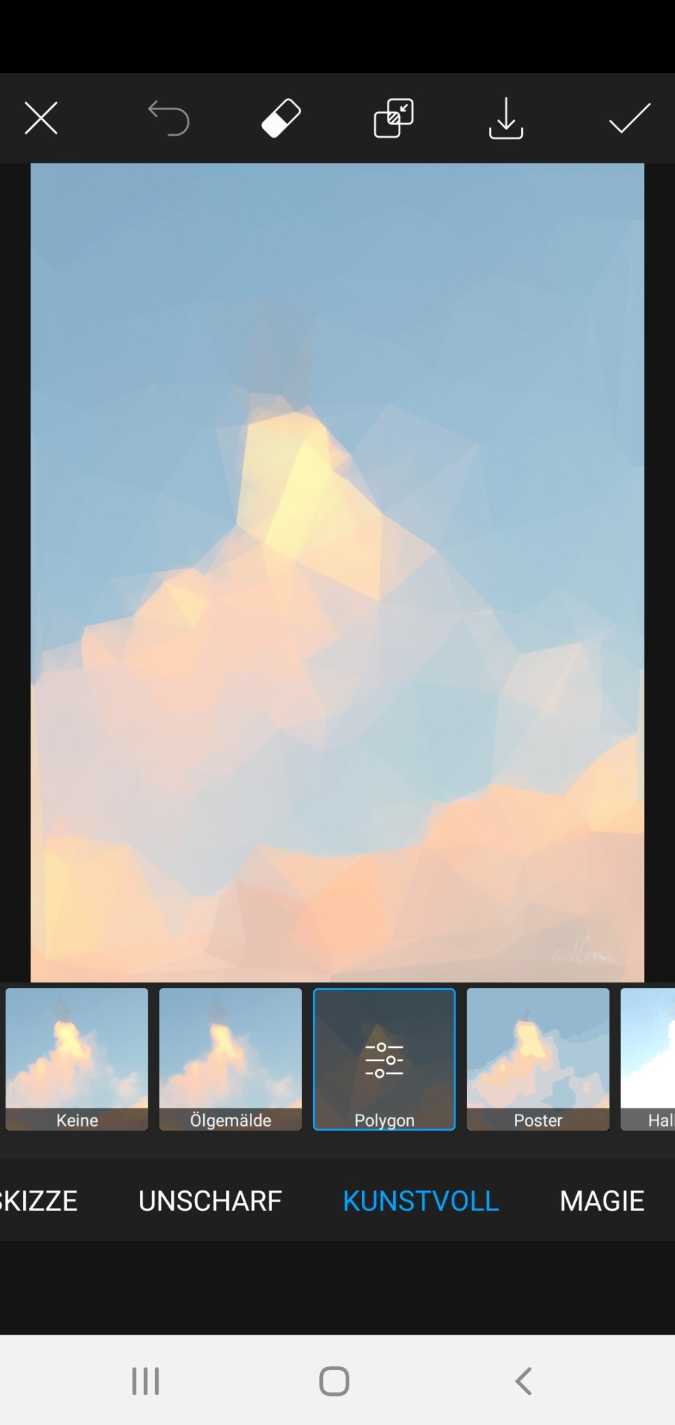 Screenshot 1 - PicsArt Photo Editor (Android-App)