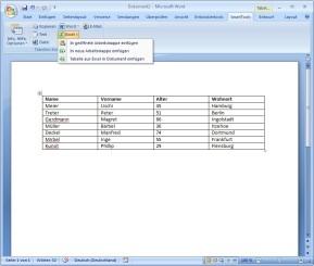 SmartTools Tabellen-Konvertierer für Word