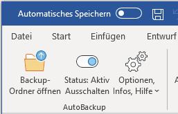 Screenshot 1 - SmartTools AutoBackup für Word